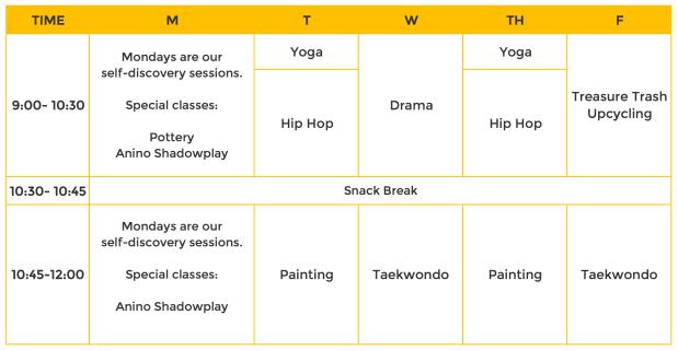 CC2018 - 2 - schedule